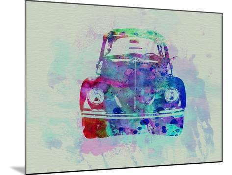 VW Beetle Watercolor 2-NaxArt-Mounted Art Print