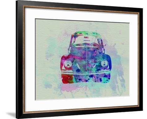 VW Beetle Watercolor 2-NaxArt-Framed Art Print