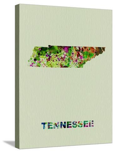 Tennessee Color Splatter Map-NaxArt-Stretched Canvas Print