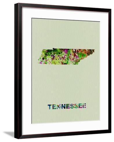 Tennessee Color Splatter Map-NaxArt-Framed Art Print