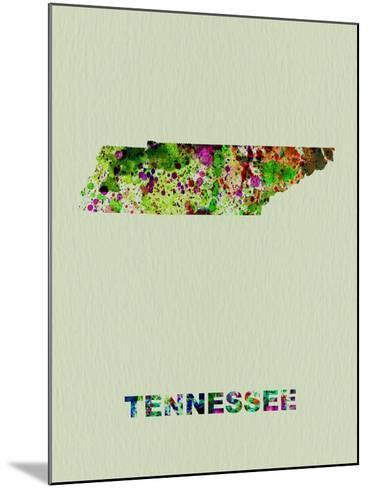 Tennessee Color Splatter Map-NaxArt-Mounted Art Print