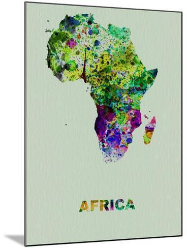 Africa Color Splatter Map-NaxArt-Mounted Art Print