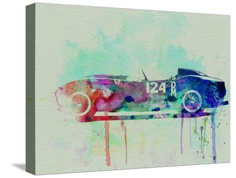 Ferrari Testa Rossa Watercolor 2-NaxArt-Stretched Canvas Print