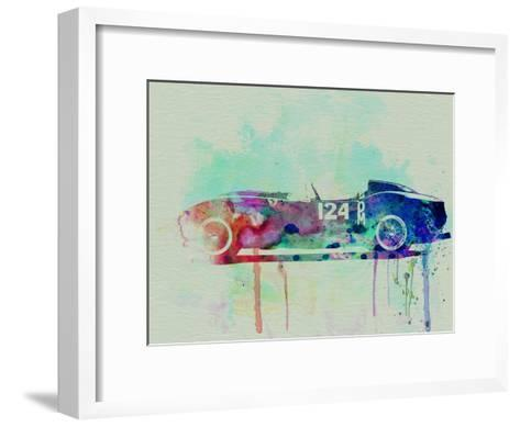 Ferrari Testa Rossa Watercolor 2-NaxArt-Framed Art Print