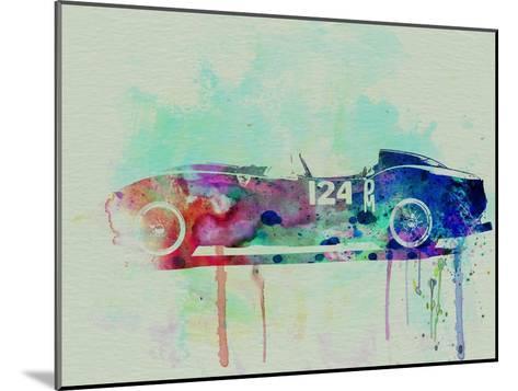 Ferrari Testa Rossa Watercolor 2-NaxArt-Mounted Art Print
