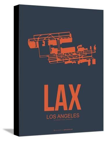 Lax Los Angeles Poster 3-NaxArt-Stretched Canvas Print