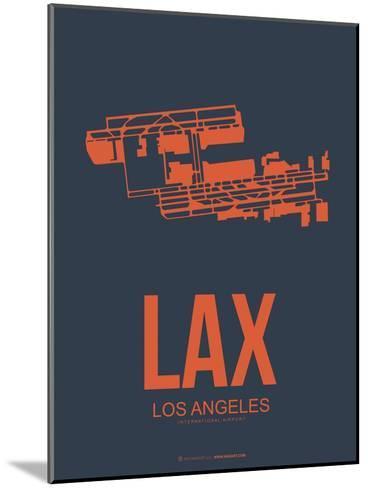 Lax Los Angeles Poster 3-NaxArt-Mounted Art Print