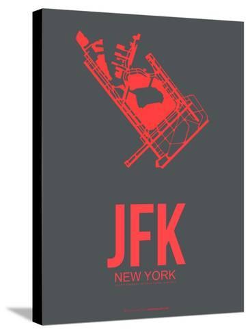 Jfk New York Poster 2-NaxArt-Stretched Canvas Print