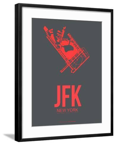 Jfk New York Poster 2-NaxArt-Framed Art Print
