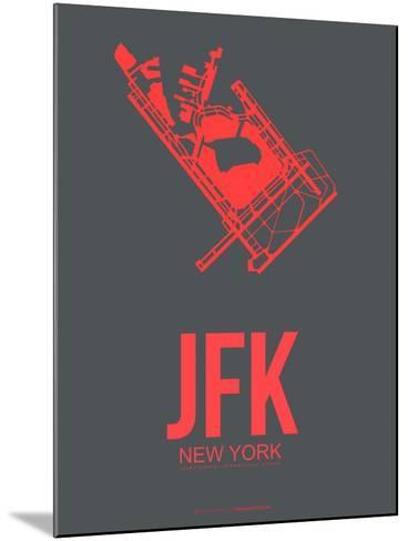 Jfk New York Poster 2-NaxArt-Mounted Art Print