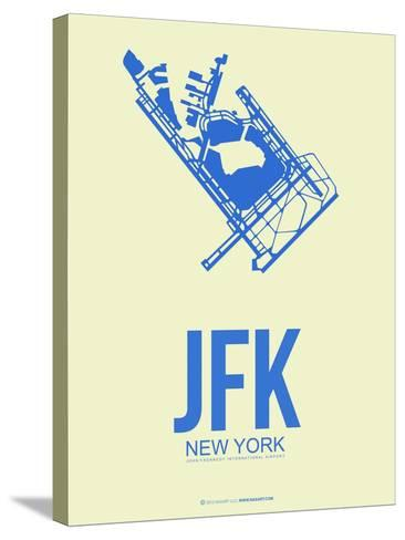 Jfk New York Poster 3-NaxArt-Stretched Canvas Print