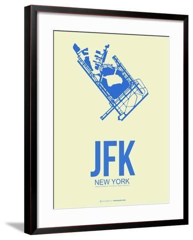 Jfk New York Poster 3-NaxArt-Framed Art Print