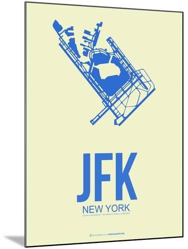 Jfk New York Poster 3-NaxArt-Mounted Art Print