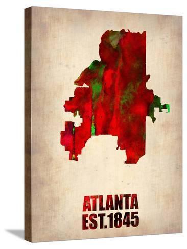 Atlanta Watercolor Map-NaxArt-Stretched Canvas Print