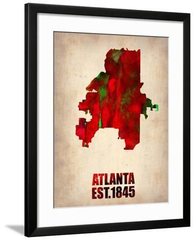 Atlanta Watercolor Map-NaxArt-Framed Art Print