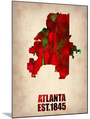 Atlanta Watercolor Map-NaxArt-Mounted Art Print