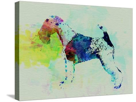 Fox Terrier Watercolor-NaxArt-Stretched Canvas Print