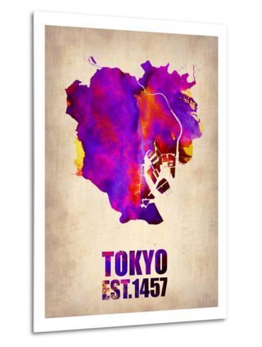 Tokyo Watercolor Map 2-NaxArt-Metal Print