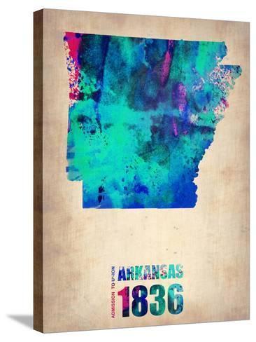 Arkansas Watercolor Map-NaxArt-Stretched Canvas Print