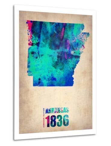 Arkansas Watercolor Map-NaxArt-Metal Print