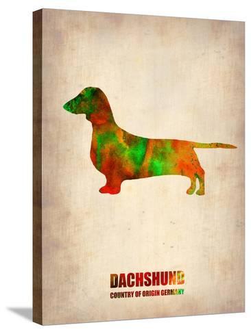 Dachshund Poster 2-NaxArt-Stretched Canvas Print