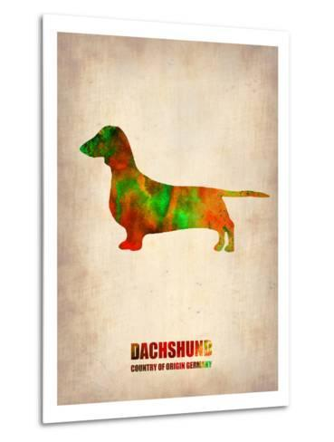 Dachshund Poster 2-NaxArt-Metal Print