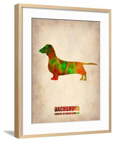 Dachshund Poster 2-NaxArt-Framed Art Print