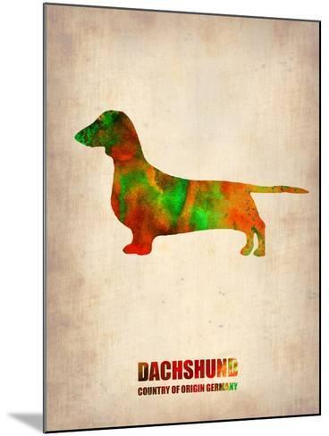 Dachshund Poster 2-NaxArt-Mounted Art Print