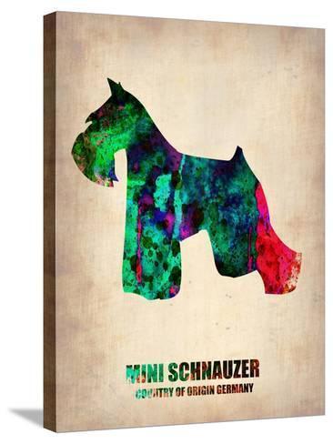 Miniature Schnauzer Poster-NaxArt-Stretched Canvas Print