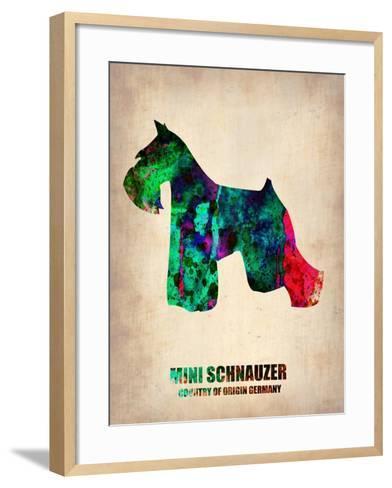 Miniature Schnauzer Poster-NaxArt-Framed Art Print
