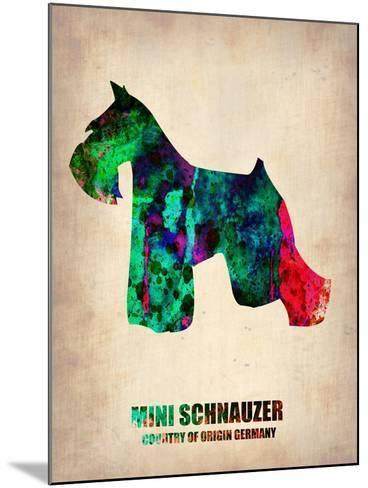 Miniature Schnauzer Poster-NaxArt-Mounted Art Print