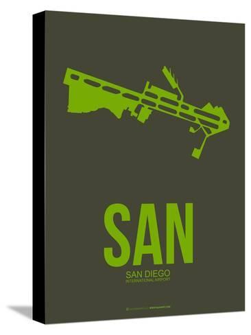 San San Diego Poster 2-NaxArt-Stretched Canvas Print