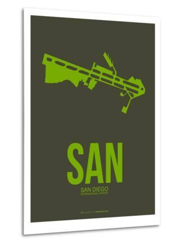 San San Diego Poster 2-NaxArt-Metal Print