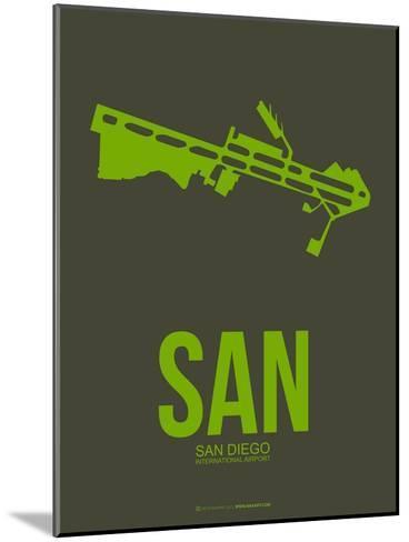 San San Diego Poster 2-NaxArt-Mounted Art Print