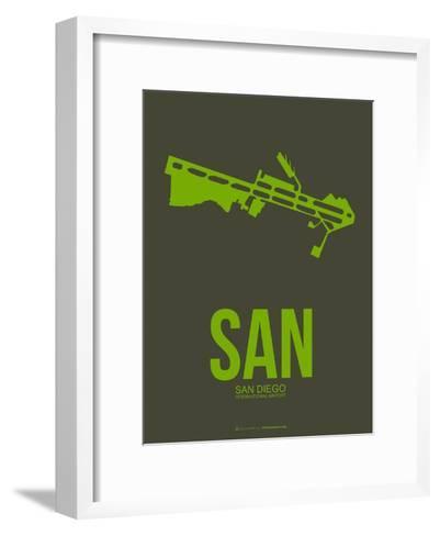 San San Diego Poster 2-NaxArt-Framed Art Print