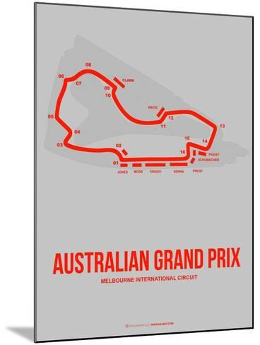 Australian Grand Prix 1-NaxArt-Mounted Art Print