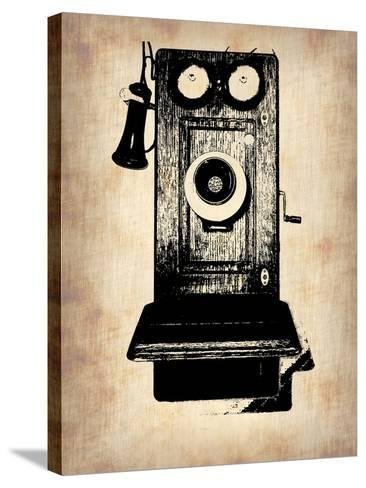 Vintage Phone 1-NaxArt-Stretched Canvas Print