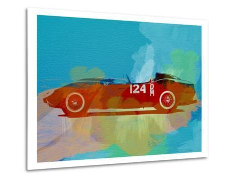 Ferrari Testa Rossa Watercolor 1-NaxArt-Metal Print
