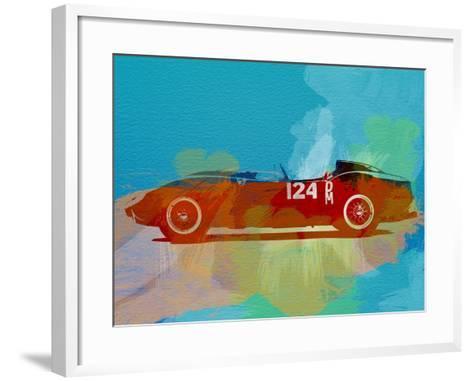 Ferrari Testa Rossa Watercolor 1-NaxArt-Framed Art Print