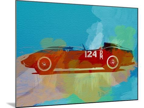 Ferrari Testa Rossa Watercolor 1-NaxArt-Mounted Art Print