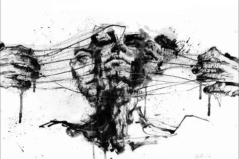 Drawing Restraints-Agnes Cecile-Stretched Canvas Print