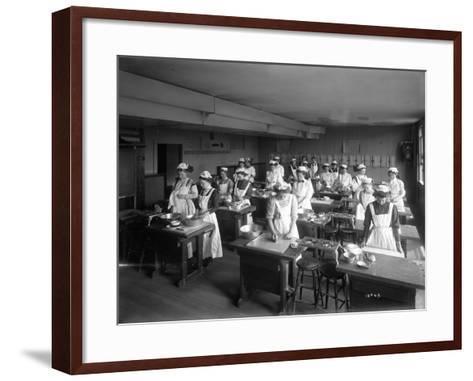 Cooking Class, Seattle, 1909-Ashael Curtis-Framed Art Print