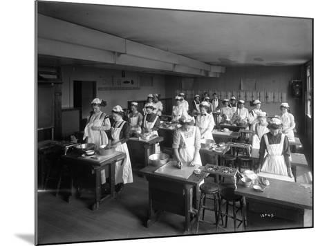 Cooking Class, Seattle, 1909-Ashael Curtis-Mounted Giclee Print