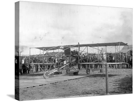 Harvey Crawford and Biplane at Tacoma (September 28, 1912)-Marvin Boland-Stretched Canvas Print