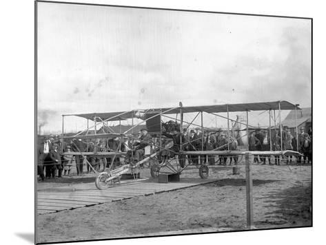 Harvey Crawford and Biplane at Tacoma (September 28, 1912)-Marvin Boland-Mounted Giclee Print