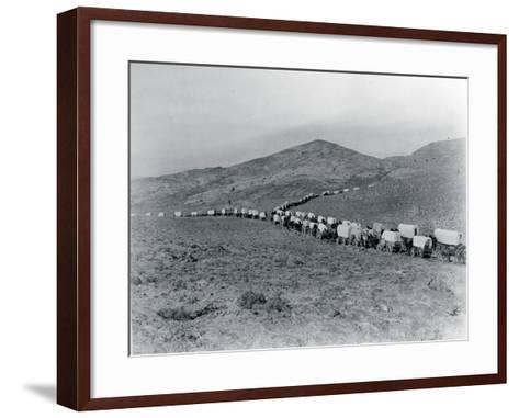 Wagon Train - Oregon Trail Wagon Train Reenactment, 1935-Ashael Curtis-Framed Art Print