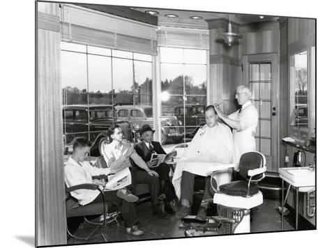 Lakewood Barber Shop, 1940-Chapin Bowen-Mounted Giclee Print