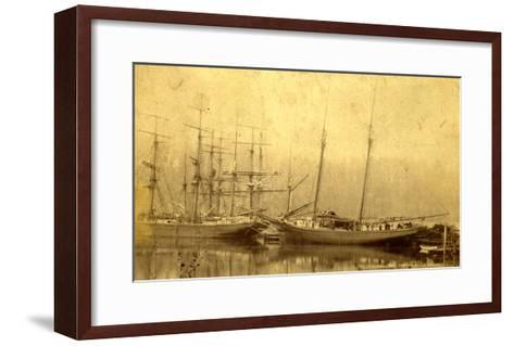 State of Washington Views: Schooner Vine (ca. 1890)--Framed Art Print