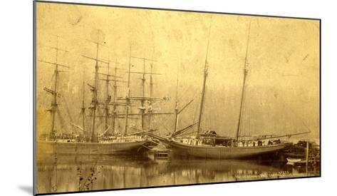 State of Washington Views: Schooner Vine (ca. 1890)--Mounted Giclee Print