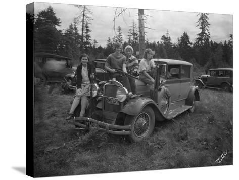 Group of Women with Rifles, 1930-Marvin Boland-Stretched Canvas Print